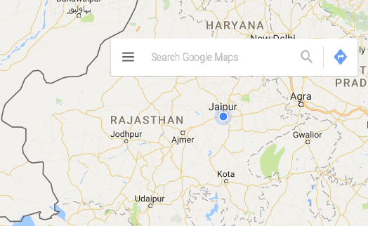 Google map showing schools in jaipur