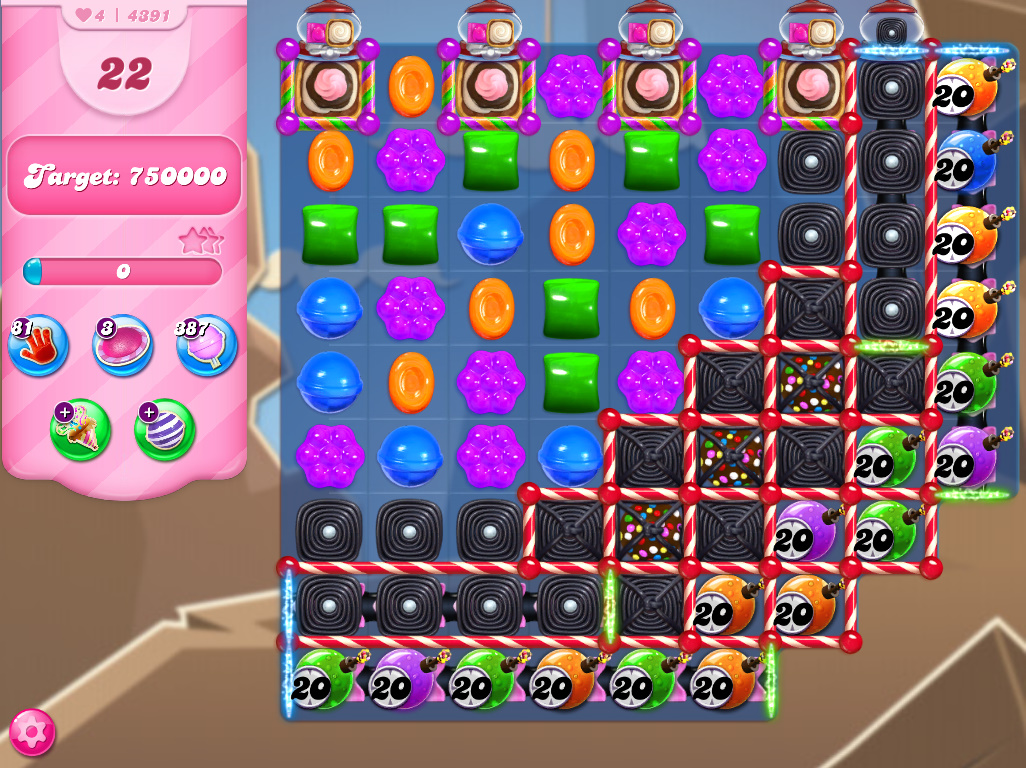 Candy Crush Saga level 4391