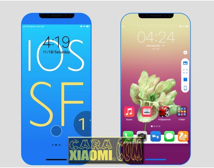 Tema MIUI IOS SF V1.4 Update Theme Mtz For Xiaomi