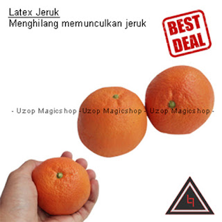 Jual alat sulap latex orange jeruk