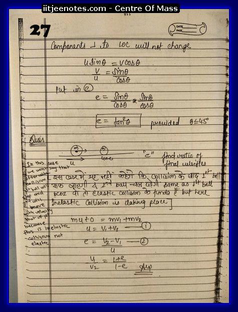 Center Of Mass Notes2