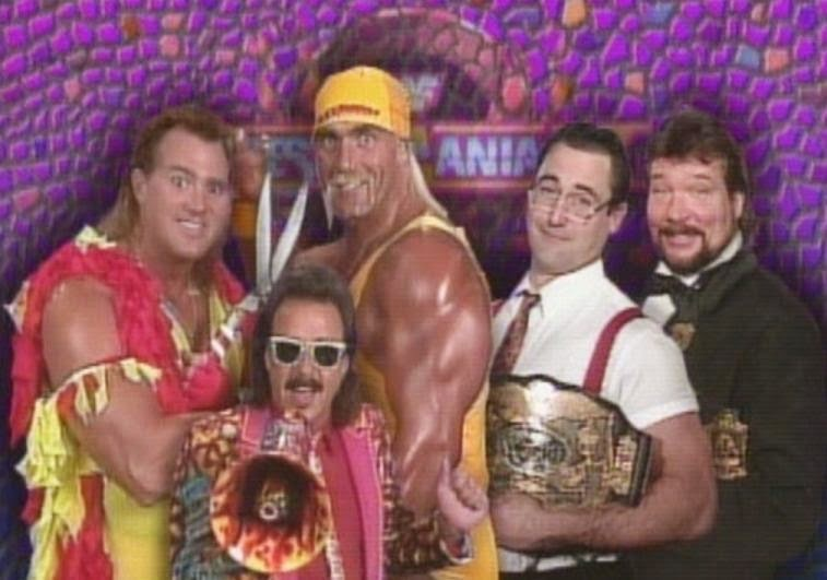 WWE / WWF WRESTLEMANIA 9: The Mega Maniacs faced Money Incorporated for the WWF Tag Team Titles
