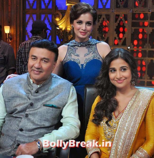 Anu Malik, Dia Mirza and Vidya Balan, Vidya Balan & Dia Mirza in Punjabi Suits Promote Bobby Jasoos on Entertainment Ke Liye Kuch Bhi Karega