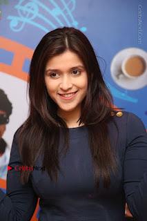 Actress Mannara Chopra Stills in Blue Short Dress at Rogue Song Launch at Radio City 91.1 FM  0003.jpg