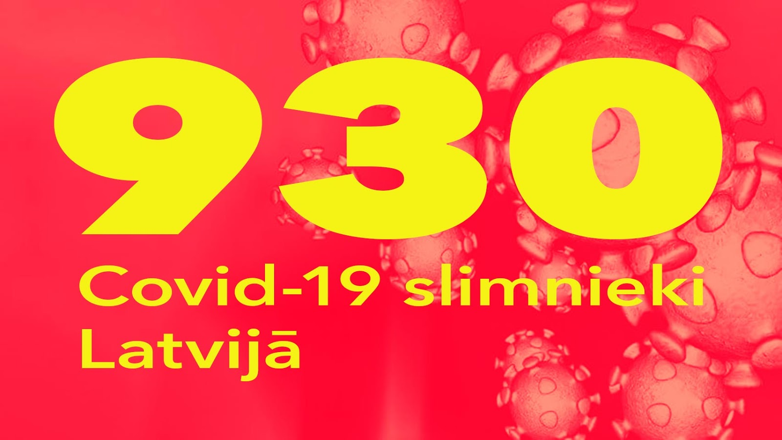 Koronavīrusa saslimušo skaits Latvijā 9.05.2020.
