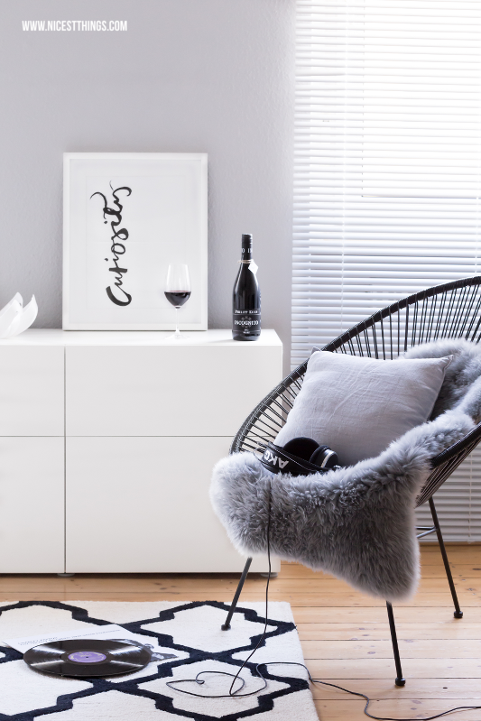 Black Acapulco Chair and Besta Sideboard