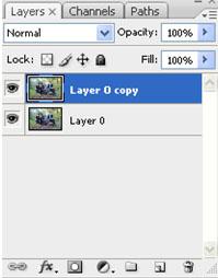 Layer orisinal dan layer duplikat