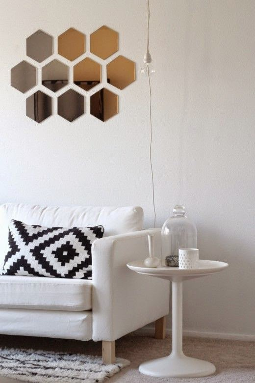 Espejos originales panal de abeja hexagonal