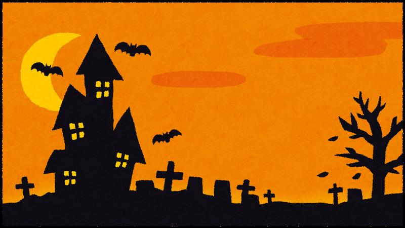 ハロウィンの背景素材(オレンジ)