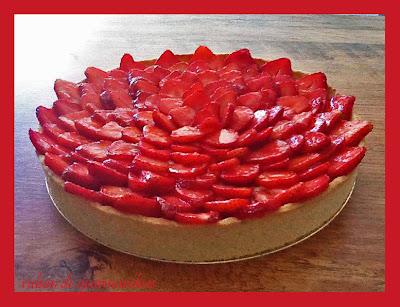 ruban de gourmandises tarte aux fraises