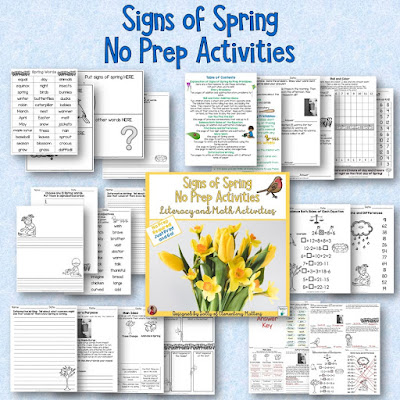 Signs of Spring Resources - Are you and your students ready for spring? Here are several ideas and resources to make sure that fun learning is happening!