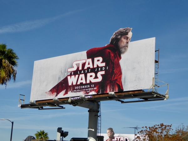Star Wars Last Jedi movie billboard