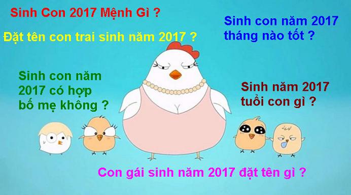 Sinh con năm 2017 Dinh Dau