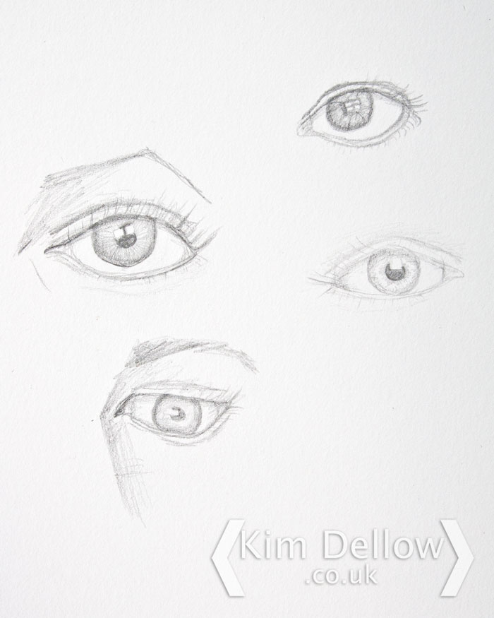 Eye sketching practise in pencil