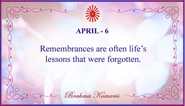 Thought For The Day April 6
