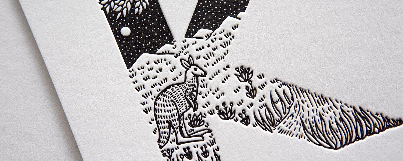 Alfabeto de animales en Letterpress