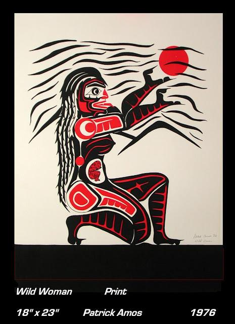 Pat Amos print Wild Woman Tsonoqua