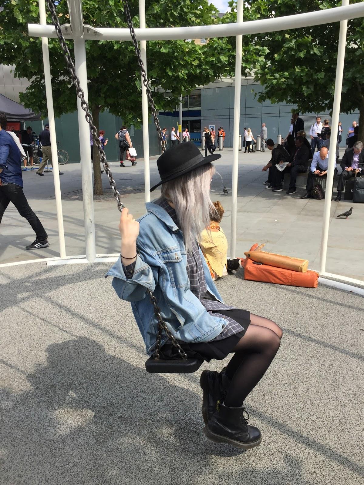 grunge silver hair OOTD