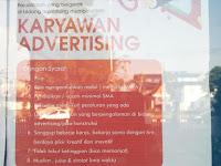Lowongan Kerja Karyawan Advertising