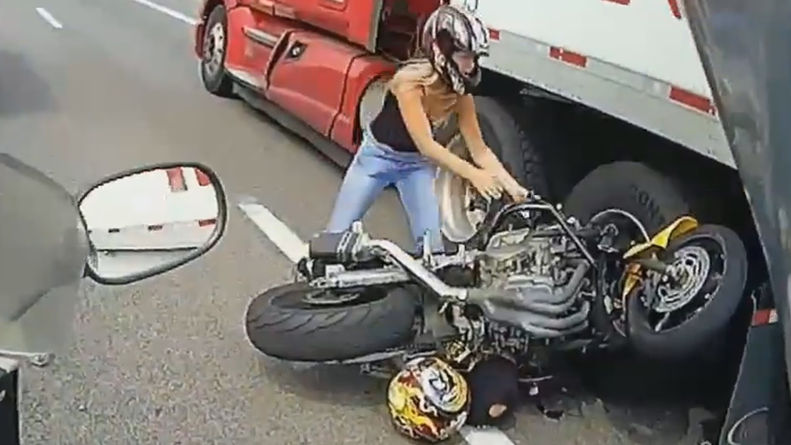 Survived from an accident while riding a motorcycle in my twenties.
