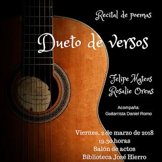 Dueto de versos Felipe Mateos y Rosalie Orens