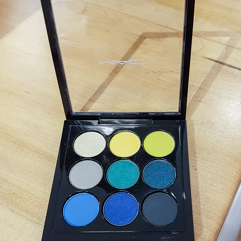 MAC Tropical Cool Times Nine Eyeshadow Palette - Swatches Photos