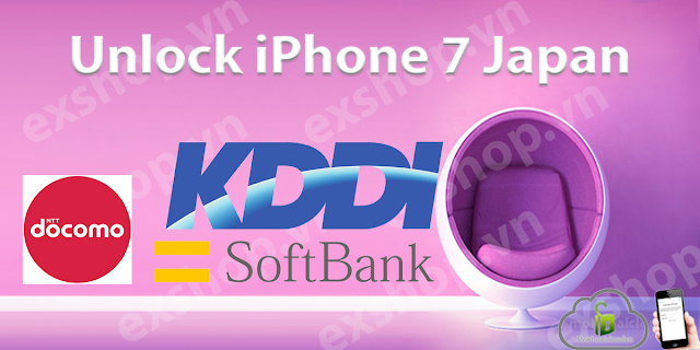 Unlock iPhone 7 Softbank, Unlock iPhone 7 Docomo, Unlock iPhone 7 KDDI Japan