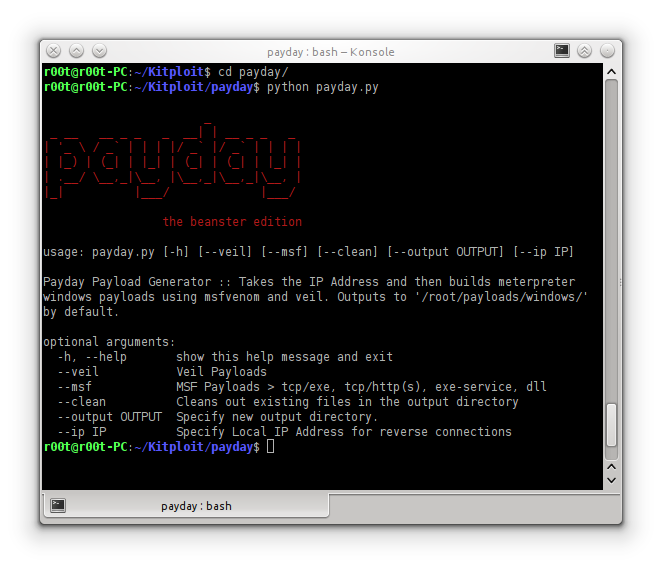 Payday - Payload generator that uses Metasploit and Veil