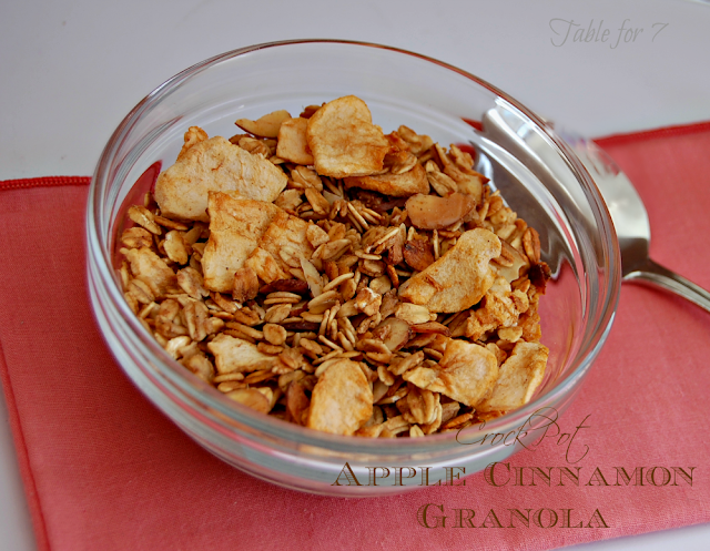 Crock Pot Apple Cinnamon Granola