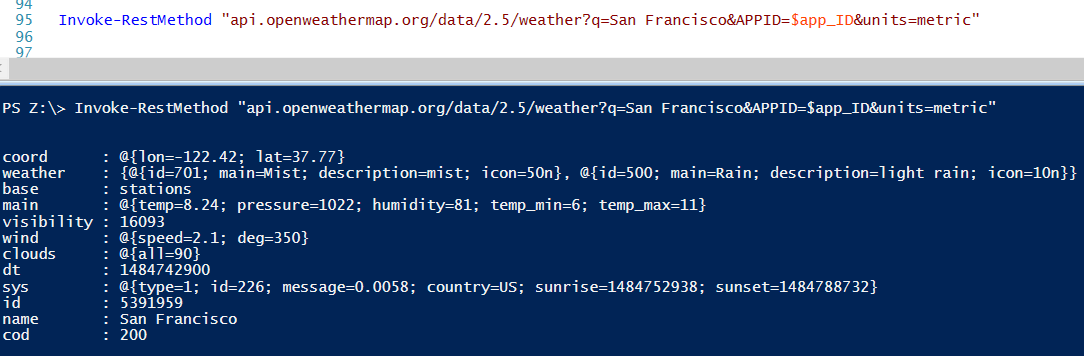 Happy SysAdm: Getting weather data with PowerShell and other funny