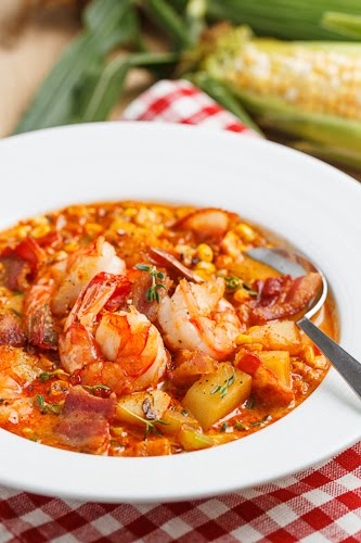 Shrimp and Roasted Corn Chowder