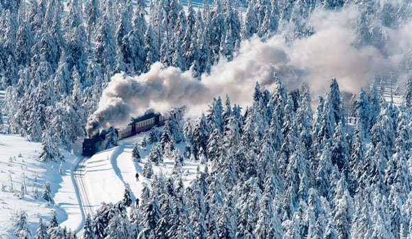 5 μοναδικά ταξίδια με τρένο σε χιονισμένα τοπία!