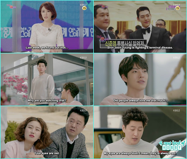 joon young manager & director crying at his house - Uncontrollably Fond - Episode 19 Review