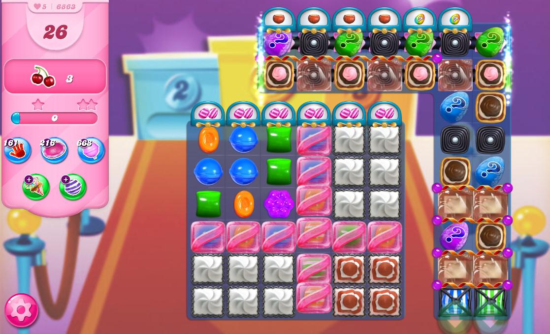 Candy Crush Saga level 6863