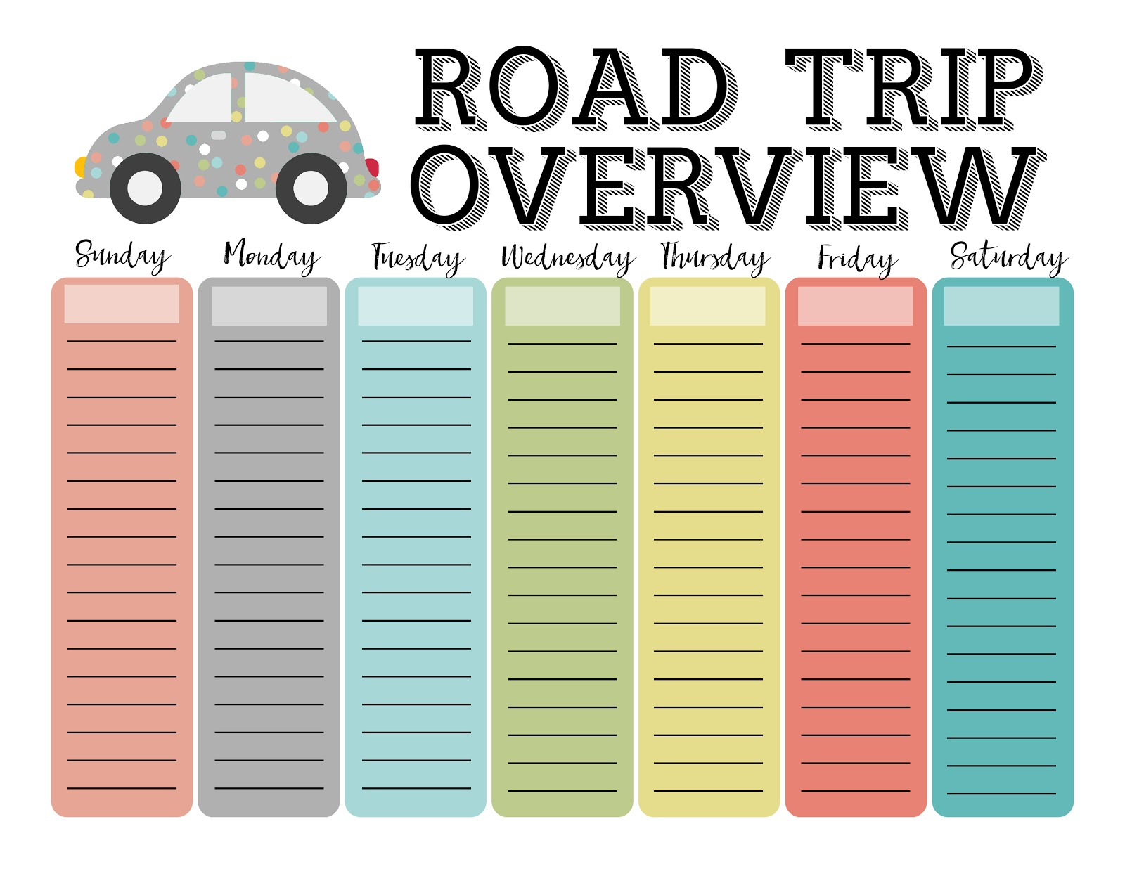 My 3 Monsters Road Trip Essentials