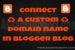 How to connect a custom domain name in Blogger in Assamese