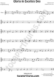 Oboe Partitura de Gloria in excelsis deo Villancico Sheet Music for Oboe Music Score