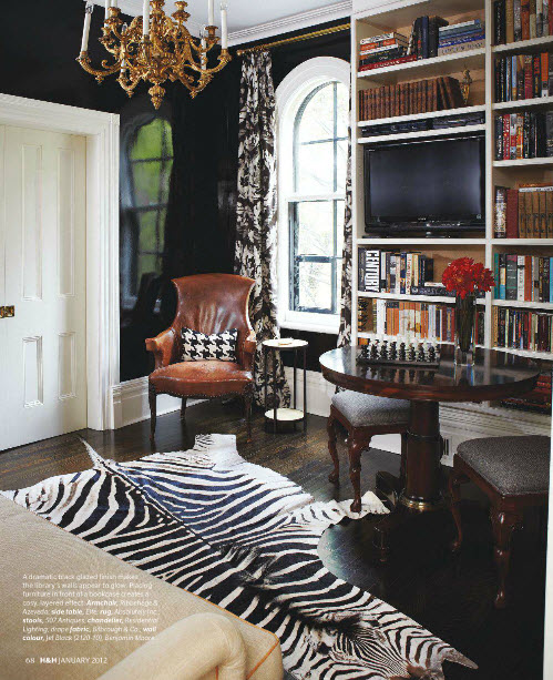 Zebra Rug Interior Design: The Styled Life: Designer Crush: Tommy Smythe