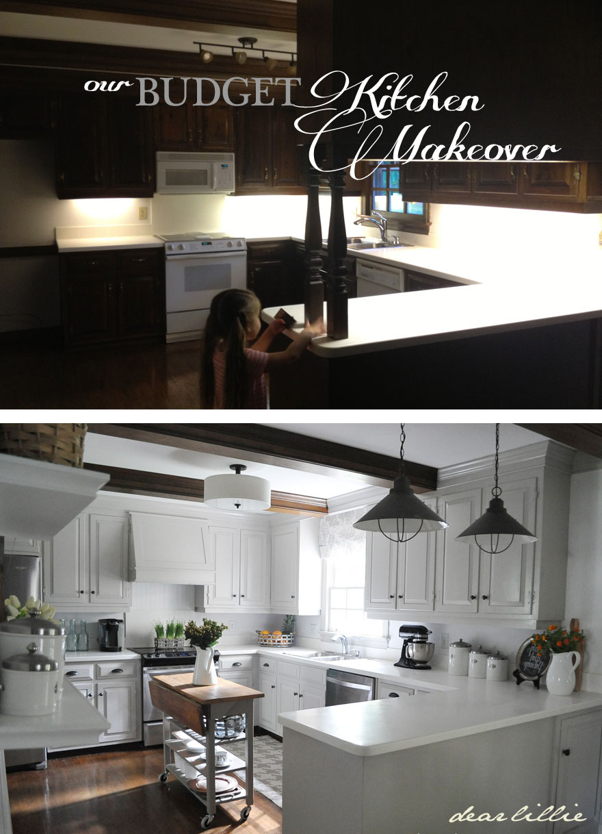 Our Kitchen Makeover On A Budget Phase 1 Dear Lillie Studio