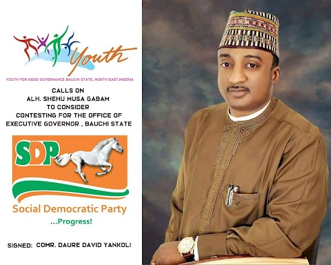 BREAKING NEWS: GROUP THREATENS TO TREK FROM BAUCHI TO ABUJA FOR ALH. SHEHU MUSA GABAM TO CONSIDER RESCUING BAUCHI SATE, GIVES SDP NATIONAL BOARD 7 DAYS ULTIMATUM IN AN OPEN LETTER TO SDP NATIONAL CAUCUS WRITTEN BY 20 CIVIL SOCIETY ORGANIZATIONS IN COLLABORATION WITH SMG REFORMATION PROJECT NETWORK.