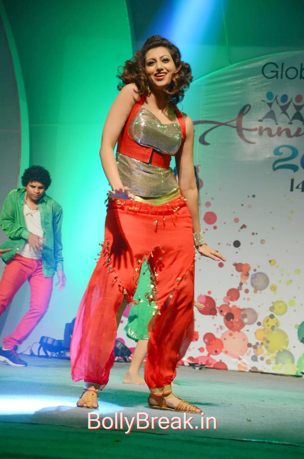 Hamsa Nandini Stills, Hamsa Nandini Hot Pics While Dancing in Red and Silver Dress