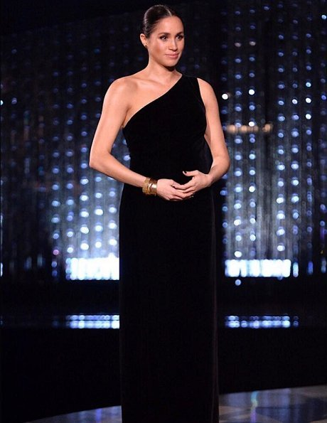 The Duchess of Sussex visited British Fashion Awards 2018 ceremony to present the designer of the year award to Clare Waight Keller of Givenchy