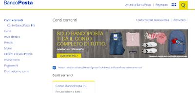 miglior conto corrente online banco posta