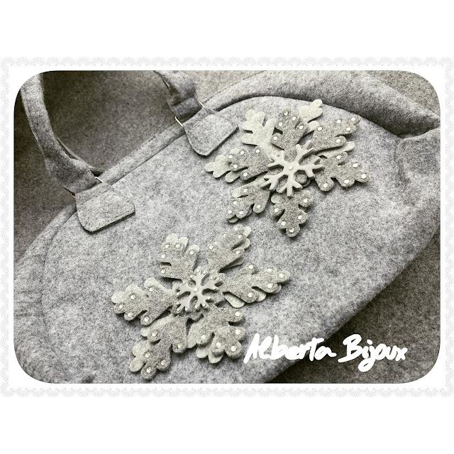 borsa feltro e pasta polimerica YouClay to do fiocchi di neve tutorial alberta bijoux