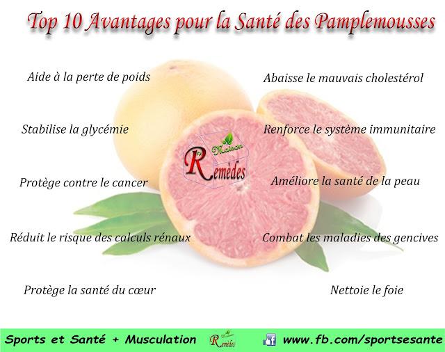 Top 10 Avantages pour la Santé des Pamplemousses