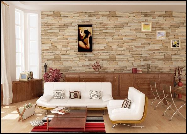 Salas con paredes de piedra  Ideas para decorar disear y mejorar tu casa