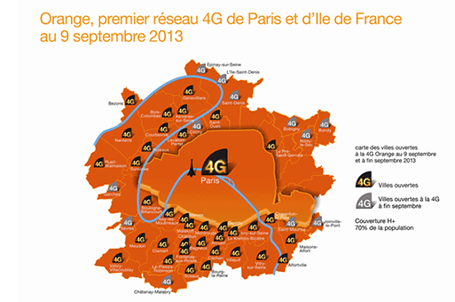 Map Of 4g Coverage France.Converge Network Digest Orange 4g Covers Paris