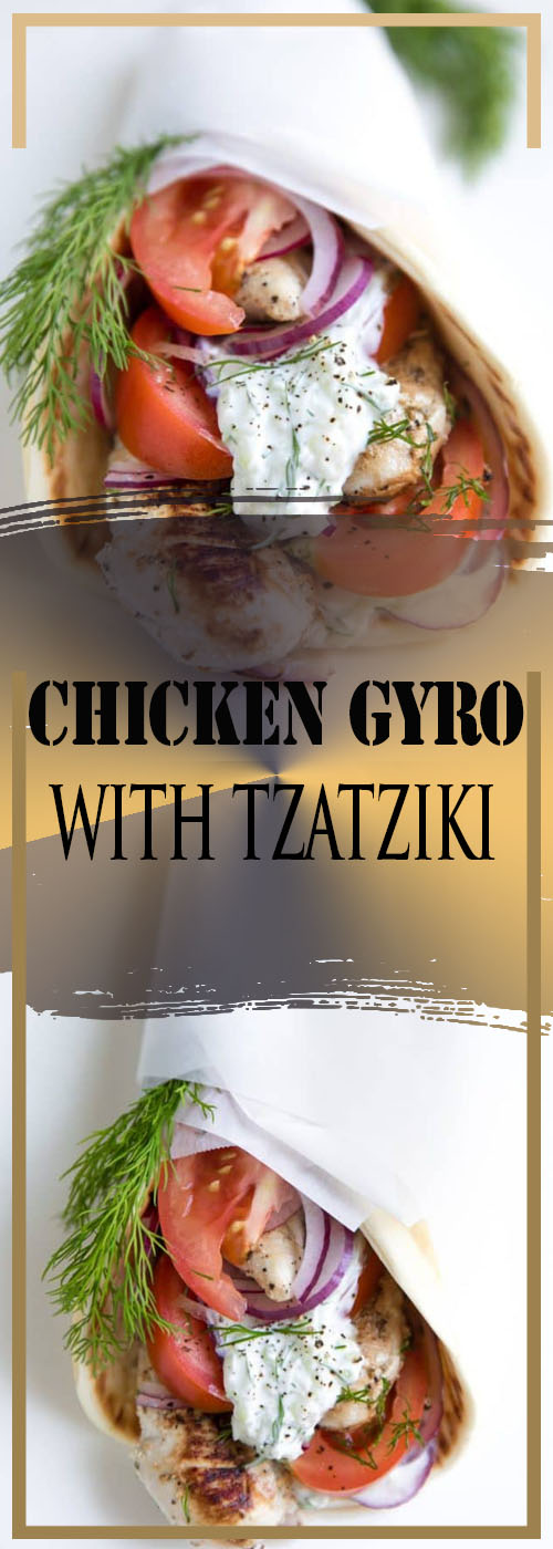 CHICKEN GYRO WITH TZATZIKI RECIPE