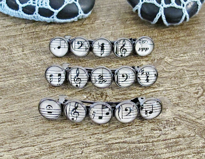 music themed hair accessories clips barrettes two cheeky monkeys musical musician gift
