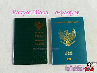 Paspor biasa dan epaspor Indonesia
